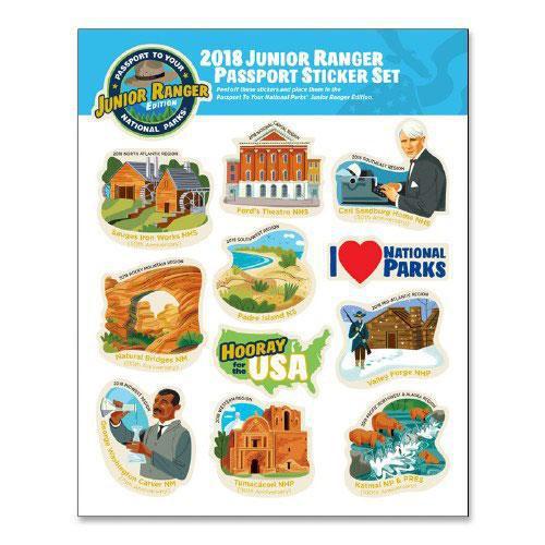 2018 Junior Ranger Sticker Set - Featuring Katmai