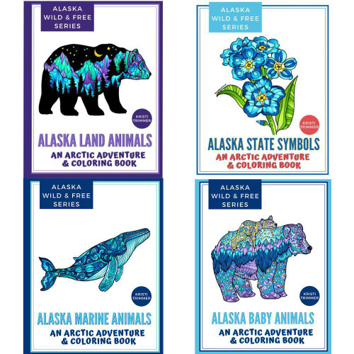 Alaska Wild and Free Coloring Books