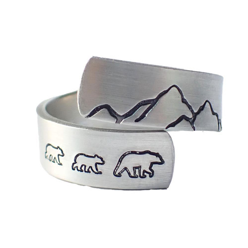 Ring - Bear & Cubs Pewter