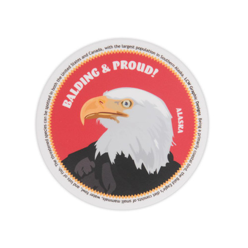 Sticker - Balding and Proud! Bald Eagle