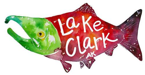 Salmon Sticker - Lake Clark