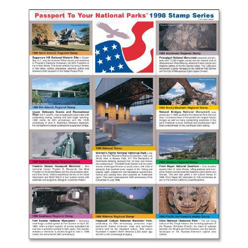 Passport NP Stamp 1998 - Featuring Sitka National Historical Park