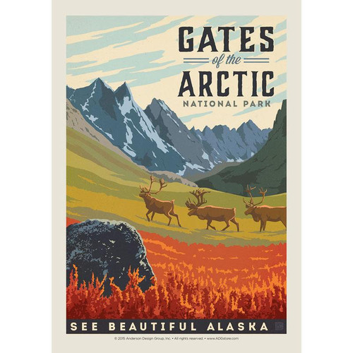 Postcard - Retro Gates of the Arctic
