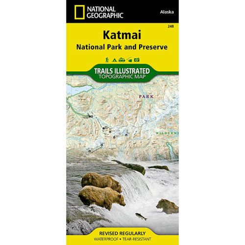 Katmai NP&P National Geographic Trails Illustrated Map