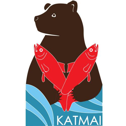 Bear Pin Stickers - Katmai