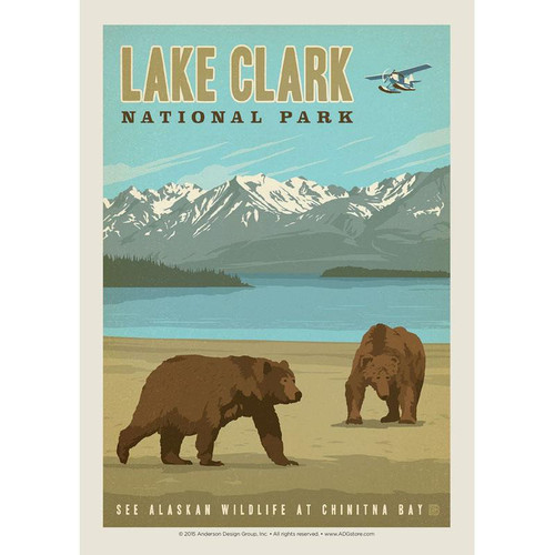 Sticker - Vertical Retro Lake Clark
