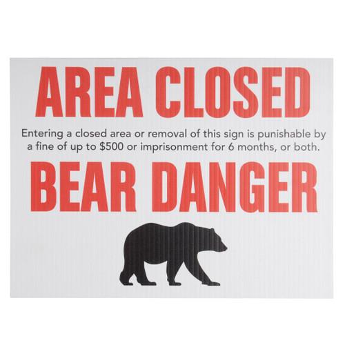Bear Danger Sign
