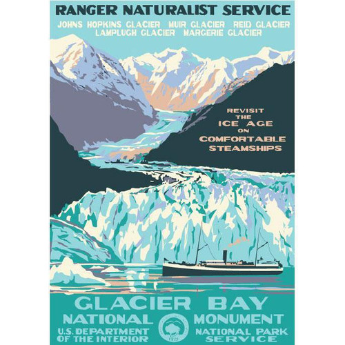 Postcard - Retro Glacier Bay - Ranger Doug