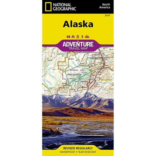 Alaska National Geographic Adventure Travel Map