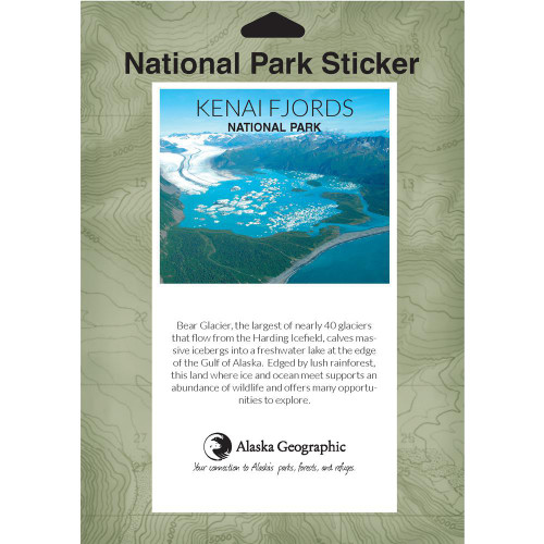 National Park Passport Sticker - Kenai Fjords National Park