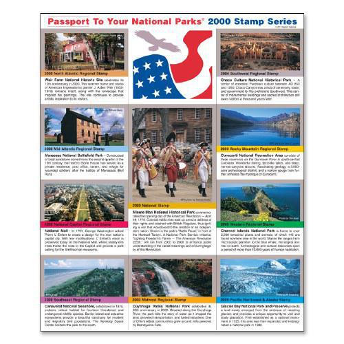 Passport NP Stamp 2000 - Featuring Glacier Bay National Park and Preserve