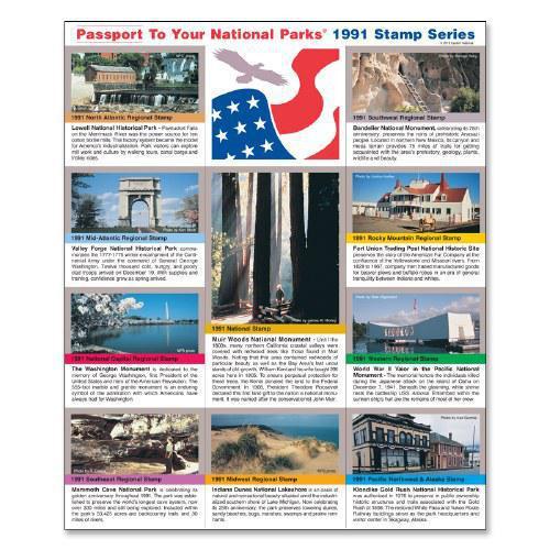 Passport NP Stamp 1991 - Featuring Klondike Gold Rush National Historical Park