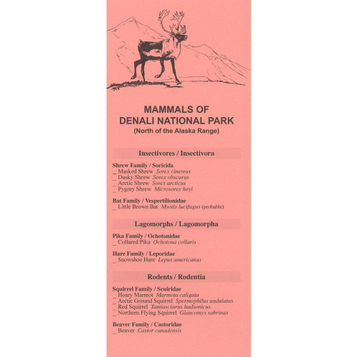Mammals of Denali National Park - Checklist