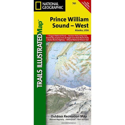 Prince William Sound West Map National Geographic Trails Illustrated Map