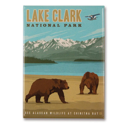 Magnet - Retro Lake Clark