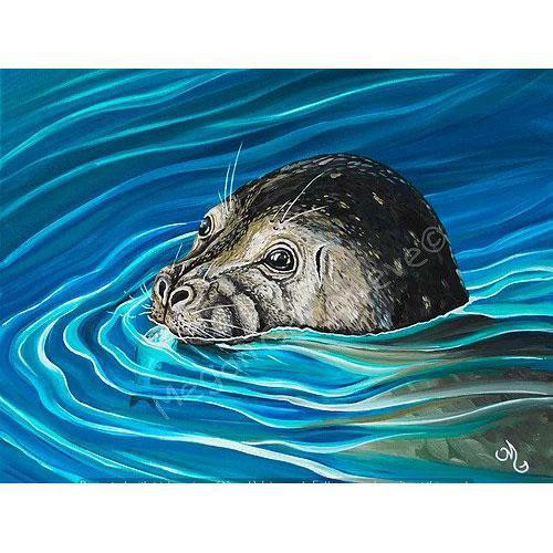 Matted Print - Salty Snack Seal - Megan Genevieve