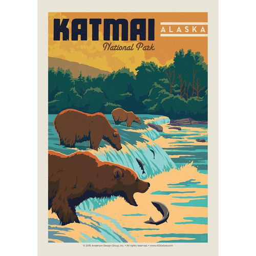 Postcard - Retro Katmai