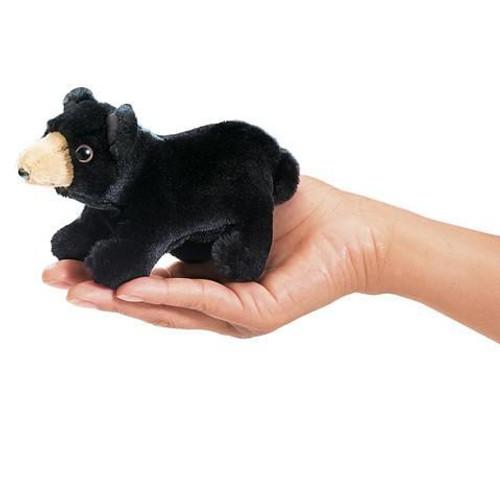 Plush - Finger Puppet - Black Bear