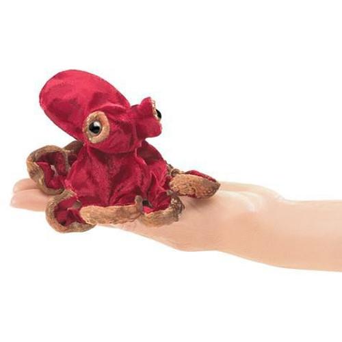 Plush - Finger Puppet - Red Octopus