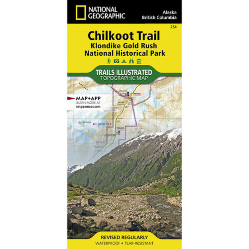 Chilkoot Trail, Klondike Gold Rush National Historic Park National Geographic Trails Illustrated Map
