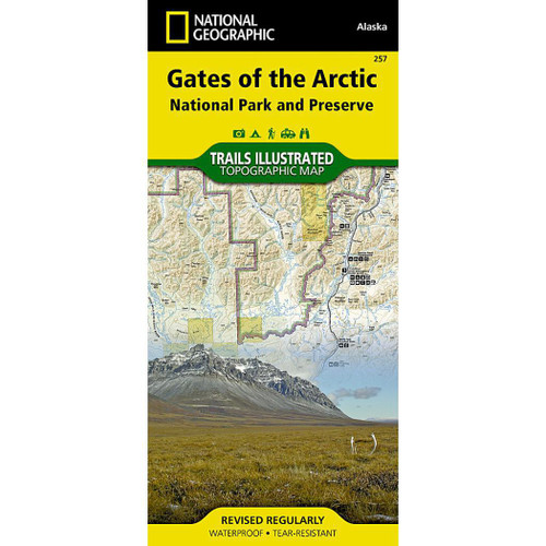 Gates of the Arctic Map National Geographic Trails Illustrated Map