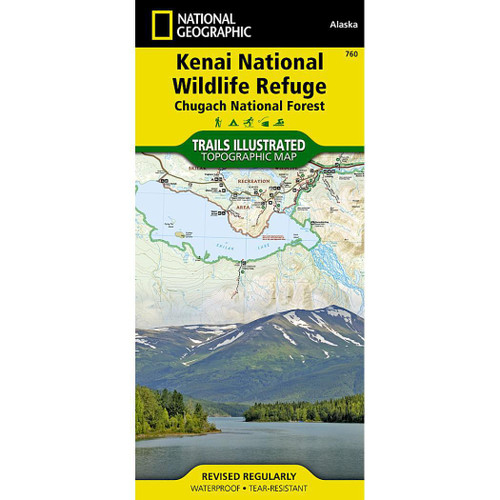 Kenai National Wildlife Refuge National Geographic Trails Illustrated Map