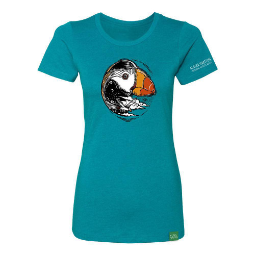 Women's T-Shirt - Alaska Maritime Puffin
