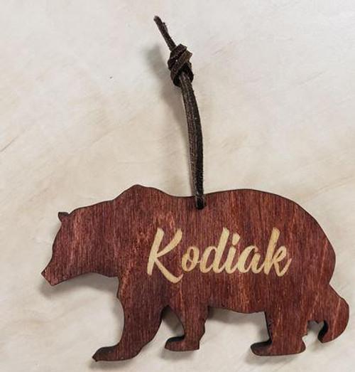Ornament - Wooden Bear - Kodiak