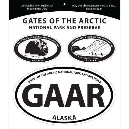 Triple Sticker Set - Gates of the Arctic National Park & Preserve