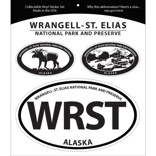 Triple Sticker Set - Wrangell-St. Elias National Park & Preserve