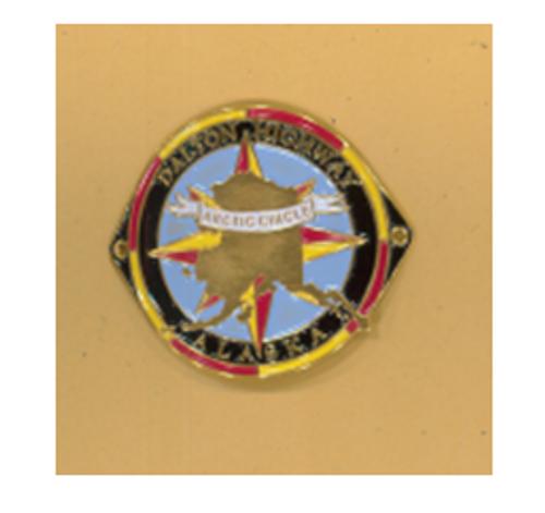 Hiking Medallion - Arctic Circle Dalton Highway Logo