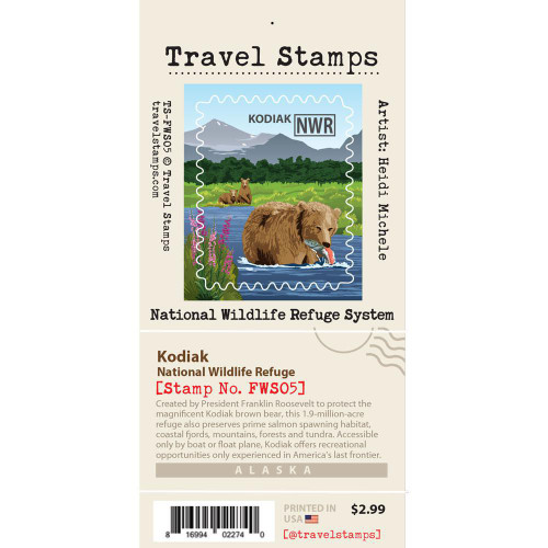 Travel Stamp - Kodiak National Wildlife Refuge