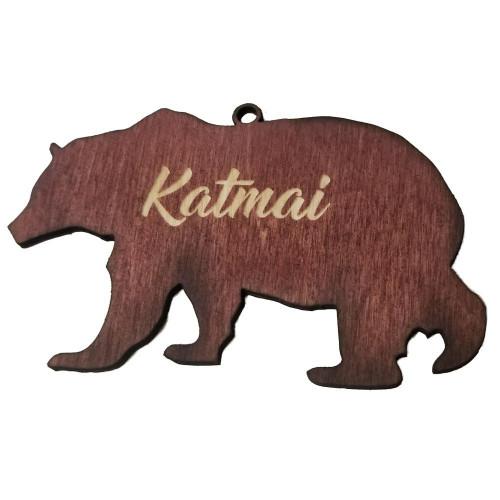 Ornament - Wooden Bear - Katmai