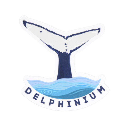 Die Cut Sticker- Delphinium Whale Tail