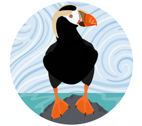 Sticker-Tufted Puffin