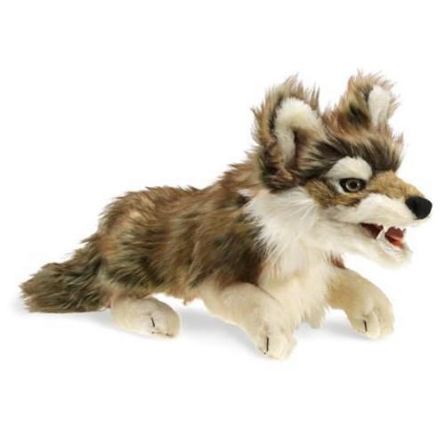"Plush - Hand Puppet - Gray Wolf - 22"""