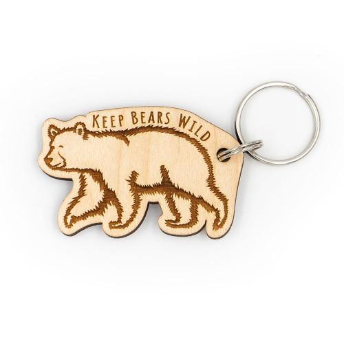 Wood Keychain - Keep Bears Wild
