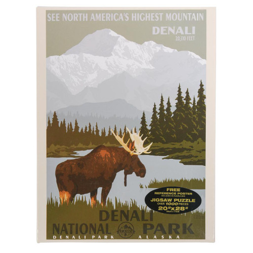 Puzzle - Denali Retro Moose