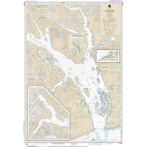 Nautical Chart - Glacier Bay and Bartlett Cove -  NOAA # 17318