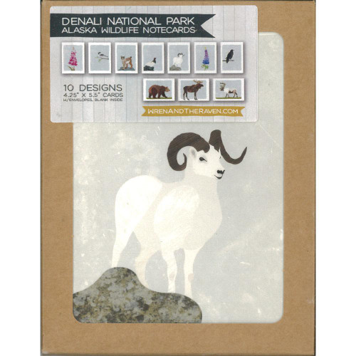 Notecard Set - Denali National Park Alaska Wildlife