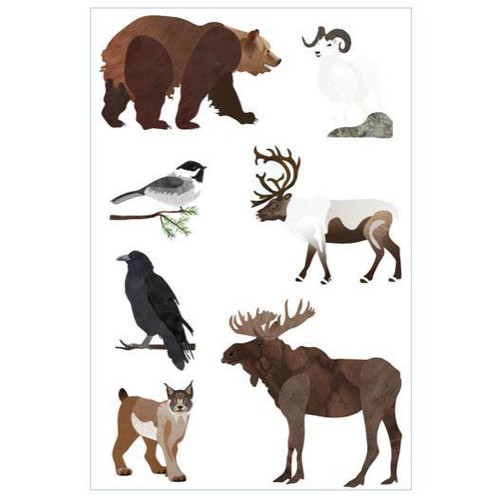 Denali Wildlife Vinyl Stickers