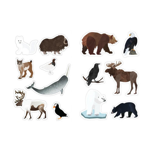 Alaska's Animals Vinyl Stickers