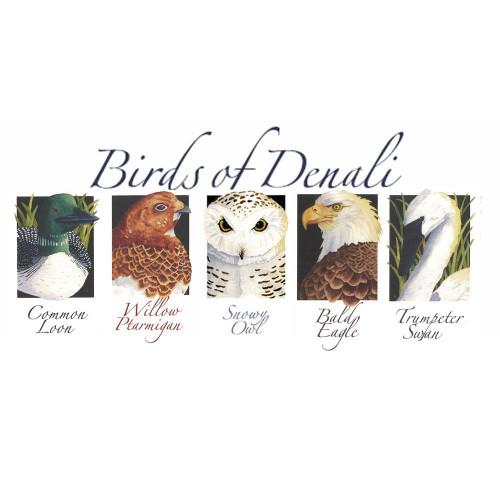 Nature of Denali Birds Note Cards Marshall Arts