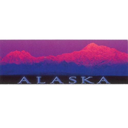 Magnet - Alaska Wild Images - Panoramic Denali Alpenglow