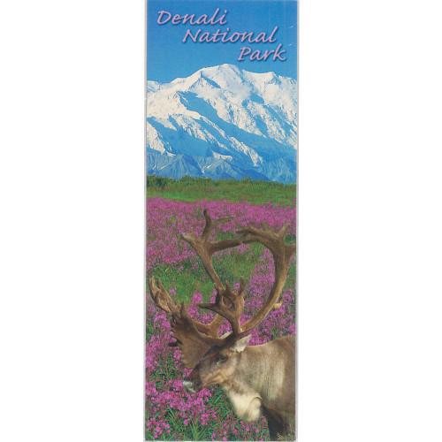 Magnet - Alaska Wild Images - Panoramic Denali & Caribou
