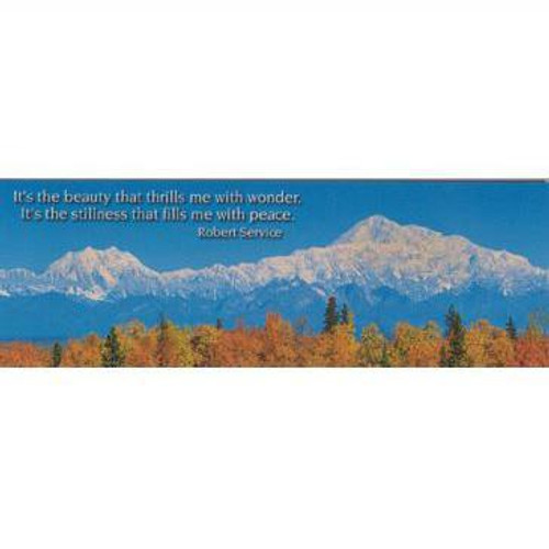 Magnet - Alaska Wild Images - Panoramic Robert Service Quote PM57