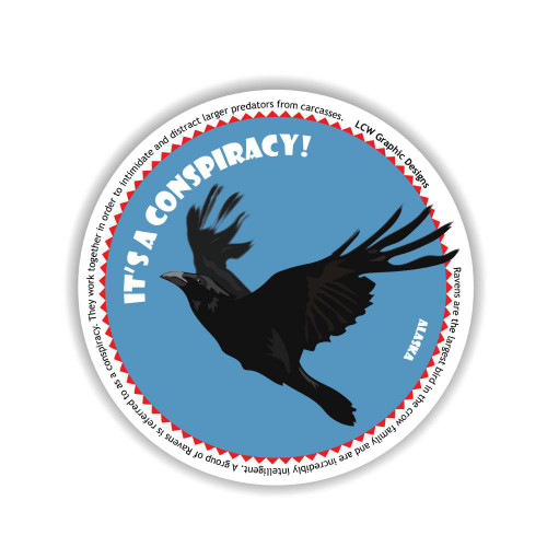 Sticker - It's A Conspiracy! Raven