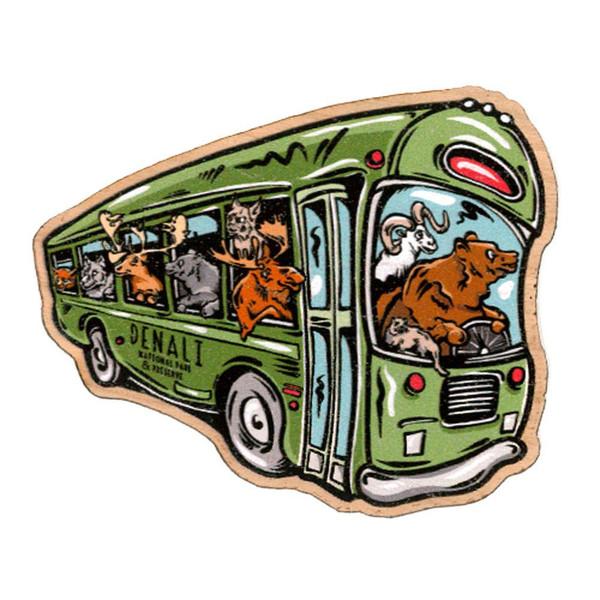Wood Decal - Denali Animal Bus