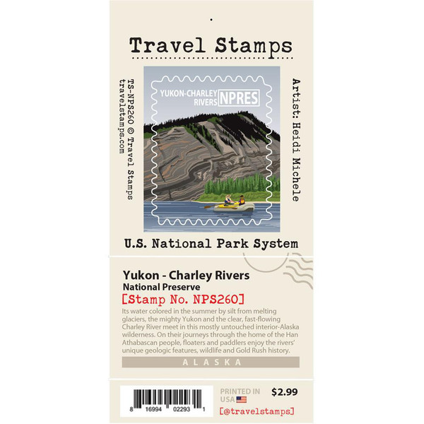 Travel Stamp - Yukon Charley Rivers National Preserve