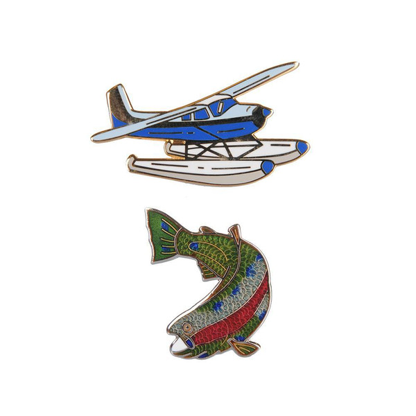 Pin Set - Katmai Collector's Float Plane & Rainbow Trout